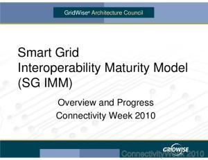 Smart Grid Interoperability Maturity Model