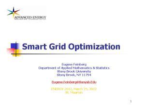 Smart Grid Optimization