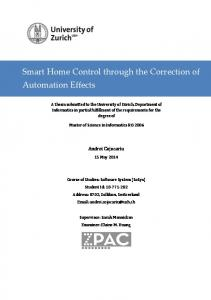 Smart Home Control through the Correction of Automation Effects
