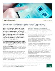 Smart Homes: Monetizing the Market Opportunity