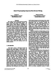 Smart Preprocessing Improves Data Stream Mining