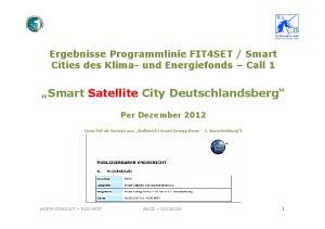 Smart Satellite City Deutschlandsberg
