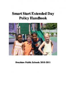 Smart Start Extended Day Policy Handbook