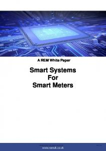 Smart Systems For Smart Meters