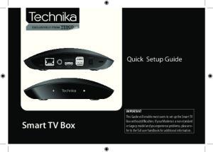 Smart TV Box. Quick Setup Guide