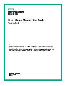 Smart Update Manager User Guide
