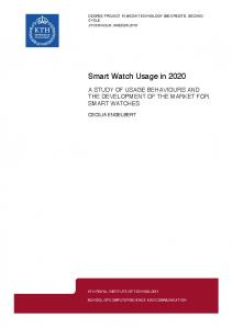 Smart Watch Usage in 2020