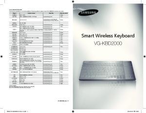Smart Wireless Keyboard VG-KBD2000