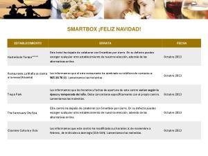 SMARTBOX FELIZ NAVIDAD!