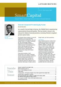 SmartCapital. European Edition Current Legal Issues for Investors in European Businesses. Shariah-Compliant Private Equity Funds