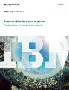 Smarter cities for smarter growth