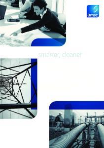 smarter, cleaner...better energy solutions