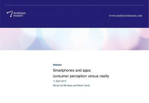 Smartphones and apps: consumer perception versus reality