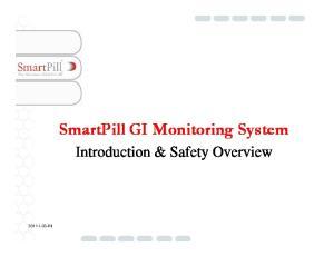 SmartPill GI Monitoring System