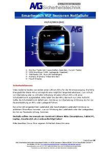 Smartwatch VIP Senioren Notfalluhr