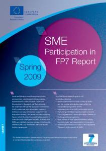 SME Participation in. FP7 Report. Spring LEAFLET