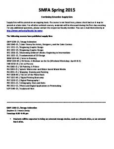 SMFA Spring Continuing Education Supply Lists