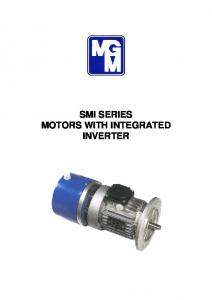 SMI SERIES MOTORS WITH INTEGRATED INVERTER