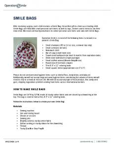 SMILE BAGS HOW TO MAKE SMILE BAGS