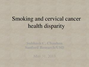 Smoking and cervical cancer health disparity