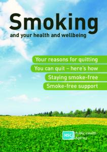 Smoking and your health and wellbeing