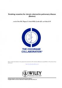 Smoking cessation for chronic obstructive pulmonary disease (Review)