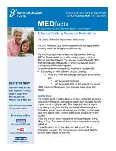 Smoking Cessation Medications