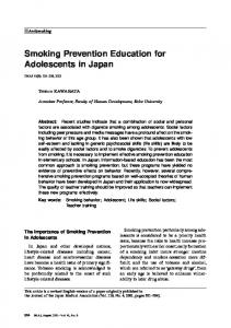 Smoking Prevention Education for Adolescents in Japan