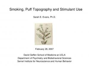 Smoking, Puff Topography and Stimulant Use