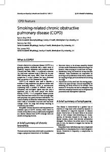 Smoking-related chronic obstructive pulmonary disease (COPD)