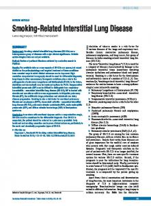smoking-related interstitial lung disease