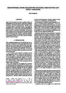 SMOOTHNESS UNDER PARAMETER CHANGES: DERIVATIVES AND TOTAL VARIATION