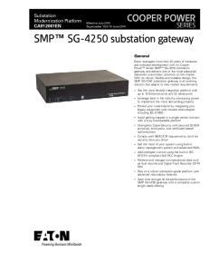 SMP SG-4250 substation gateway