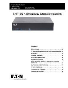 SMP SG-4260 gateway automation platform