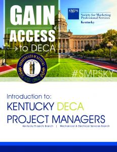 #SMPSKY. Introduction to: KENTUCKY DECA PROJECT MANAGERS. Kentucky Projects Branch Mechanical & Electrical Services Branch