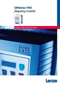 SMVector IP65 frequency inverter. Flexible, simple, economical, robust