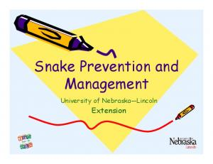 Snake Prevention and Management