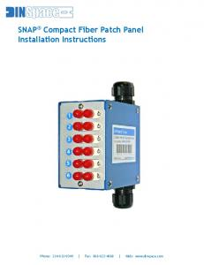 SNAP Compact Fiber Patch Panel Installation Instructions