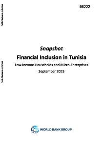 Snapshot Financial Inclusion in Tunisia