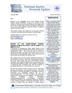 SNAPSHOTS. January 2008 Volume 15, Issue 1. Hello,