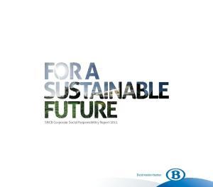 SNCB Corporate Social Responsibility Report Destination better