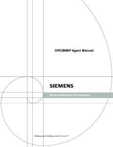 SNMP Agent Manual Siemens Building Technologies