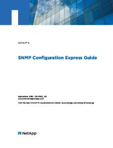SNMP Configuration Express Guide