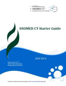SNOMED CT Starter Guide