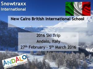 Snowtraxx International New Cairo British International School