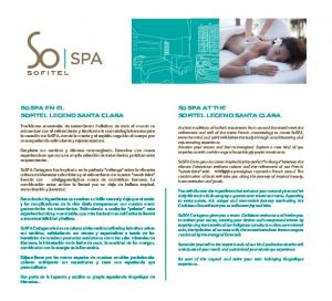So SPA AT THE SOFITEL LEGEND SANTA CLARA. So SPA EN EL SOFITEL LEGEND SANTA CLARA
