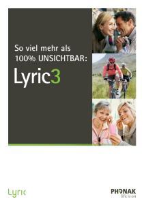 So viel mehr als 100% UNSICHTBAR: Lyric3