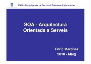 SOA - Arquitectura Orientada a Serveis