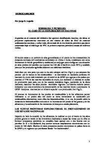 SOBERANIA Y PETROLEO: EL CASO DE LA EXPLORACION EN MALVINAS