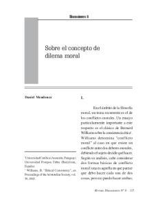 Sobre el concepto de dilema moral